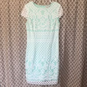 Bisou Bisou Lace over Mint Dress